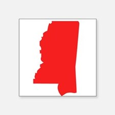 Red Mississippi Silhouette Sticker