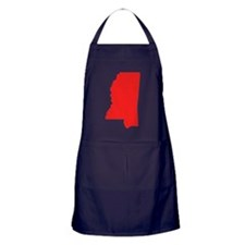 Red Mississippi Silhouette Apron (dark)