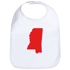 Red Mississippi Silhouette Bib
