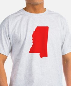 Red Mississippi Silhouette T-Shirt