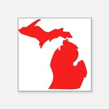 Red Michigan Silhouette Sticker