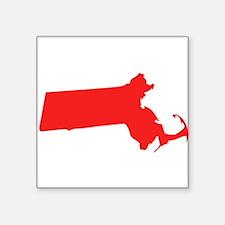 Red Massachusetts Silhouette Sticker