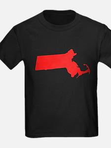 Red Massachusetts Silhouette T-Shirt