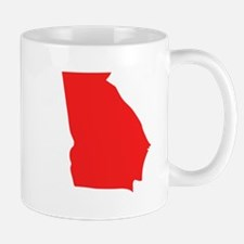 Red Georgia Silhouette Mugs