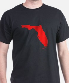 Red Florida Silhouette T-Shirt