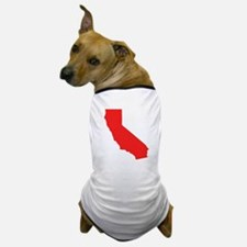 Red California Silhouette Dog T-Shirt