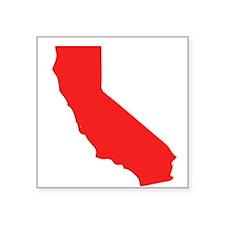 Red California Silhouette Sticker