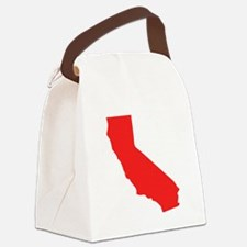 Red California Silhouette Canvas Lunch Bag