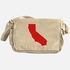 Red California Silhouette Messenger Bag