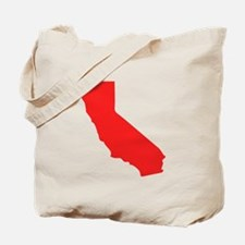 Red California Silhouette Tote Bag
