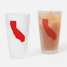 Red California Silhouette Drinking Glass