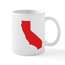 Red California Silhouette Mugs