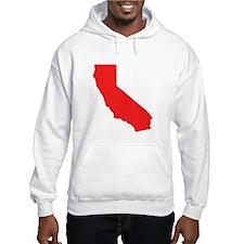 Red California Silhouette Hoodie