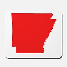 Red Arkansas Silhouette Mousepad