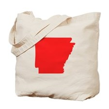 Red Arkansas Silhouette Tote Bag