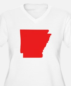 Red Arkansas Silhouette Plus Size T-Shirt