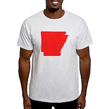 Red Arkansas Silhouette T-Shirt