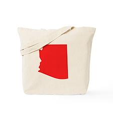 Red Arizona Silhouette Tote Bag
