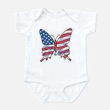 Patriotic Butterfly Infant Bodysuit