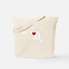 Custom Maryland Heart Tote Bag