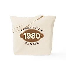 1980 Wedding Anniversary Tote Bag