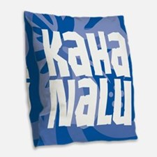Kaha Nalu Burlap Throw Pillow