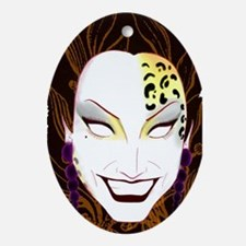 Panther Bianca Del Rio Oval Ornament