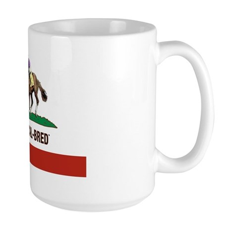 I AM A CAL-BRED LOGO Large Mug