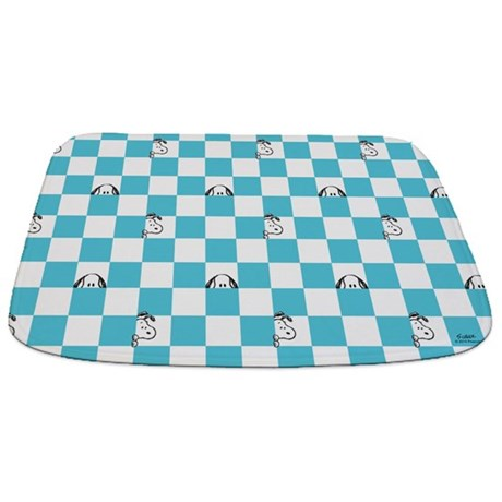 Snoopy Blue And White Bathmat