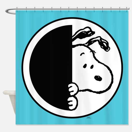 Snoopy Blue And White Shower Curtain. Peanuts Bathroom Accessories   Decor   CafePress