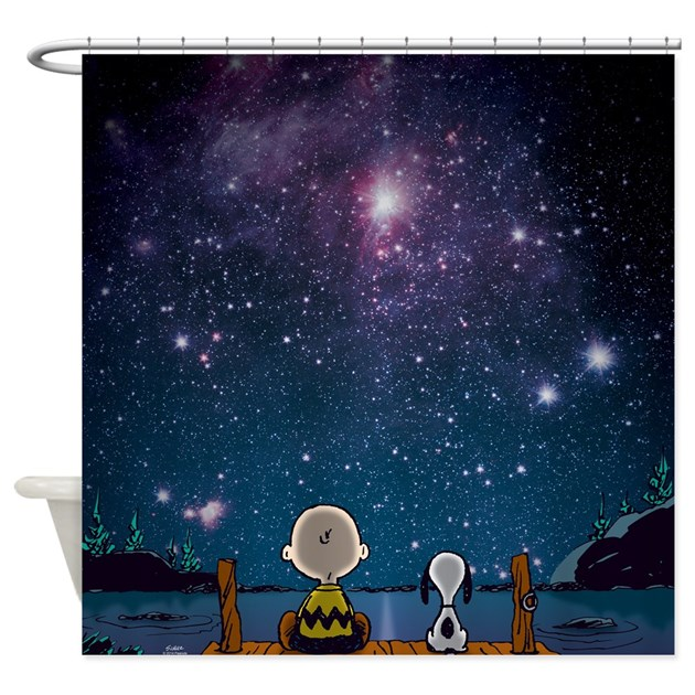 . Snoopy Space Shower Curtain by snoopystore