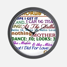 A Chorus Line The Songs Wall Clock