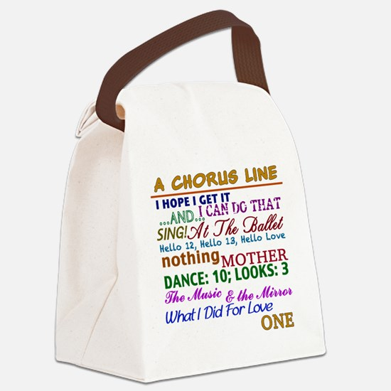 A Chorus Line The Songs Canvas Lunch Bag