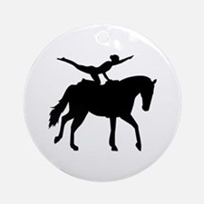 Vaulting horse Ornament (Round)