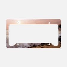 Little Island Waves  License Plate Holder
