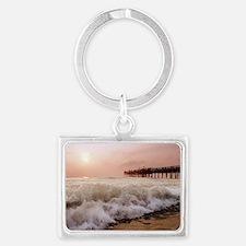 Little Island Waves  Landscape Keychain