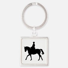Riding dressage Square Keychain