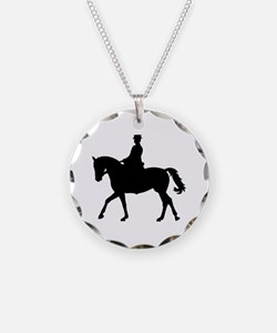 Riding dressage Necklace Circle Charm