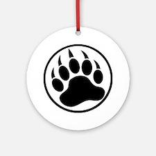 Classic Black bear claw inside a black ring Orname