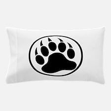 Classic Black bear claw inside a black ring Pillow