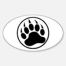 Classic Black bear claw inside a black ring Sticke