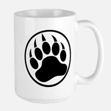 Classic Black bear claw inside a black ring Mugs