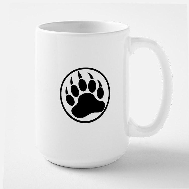 Classic Black bear claw inside a black ring Mugs