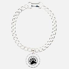 Classic Black bear claw inside a black ring Bracel
