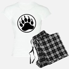 Classic Black bear claw inside a black ring Pajama