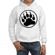 Classic Black bear claw inside a black ring Hoodie