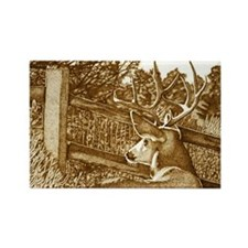 Deer in Landscape Rectangle Magnet