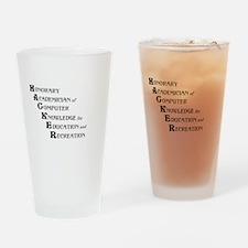 hacker.bmp Drinking Glass