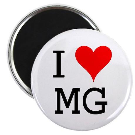 I Love MG Magnet