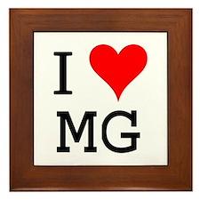I Love MG Framed Tile